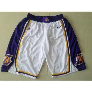 NEW NBA Nike Lakers vintage White Basketball Short